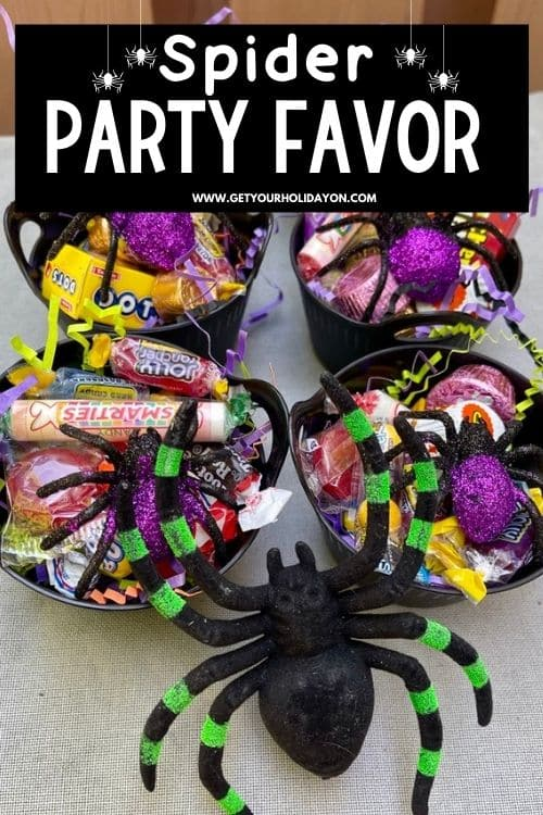 spider party favor that will put a new spin on a spiderweb!