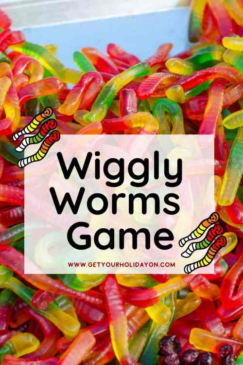 Wiggly worms game make the best gummy worm party games!