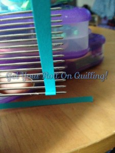 Quilling Comb Start. By creating the hollow center you can simply slide it on to the prong of the quilling comb and you can start with a stable piece of paper as you learn the ropes of using a quilling comb.