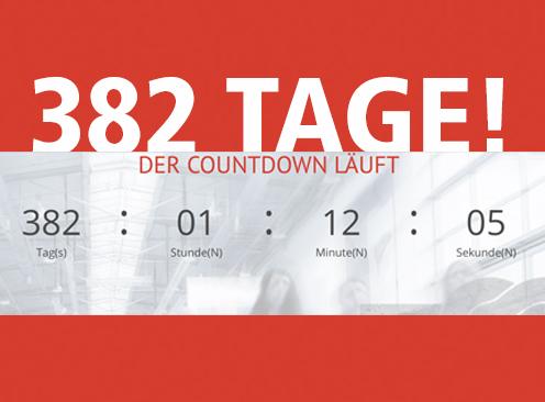 Chance ergreifen – nur noch 382 Tage bis zum Start!