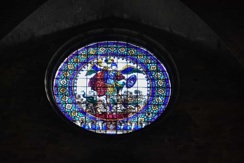 Girona Cathedral rose window