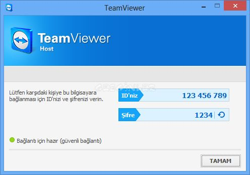 TeamViewer Host Ekran Grnts Gezginler