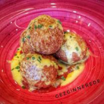 Peynirli Makarna topları