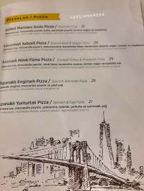 Spring Street Pizzeria Ataşehir menü