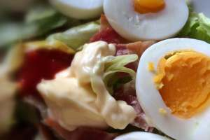 Bacon/egg salade