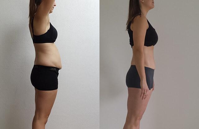 6 maanden na bevalling afvallen