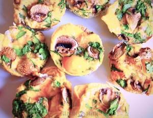 Omelet muffin met groentjes
