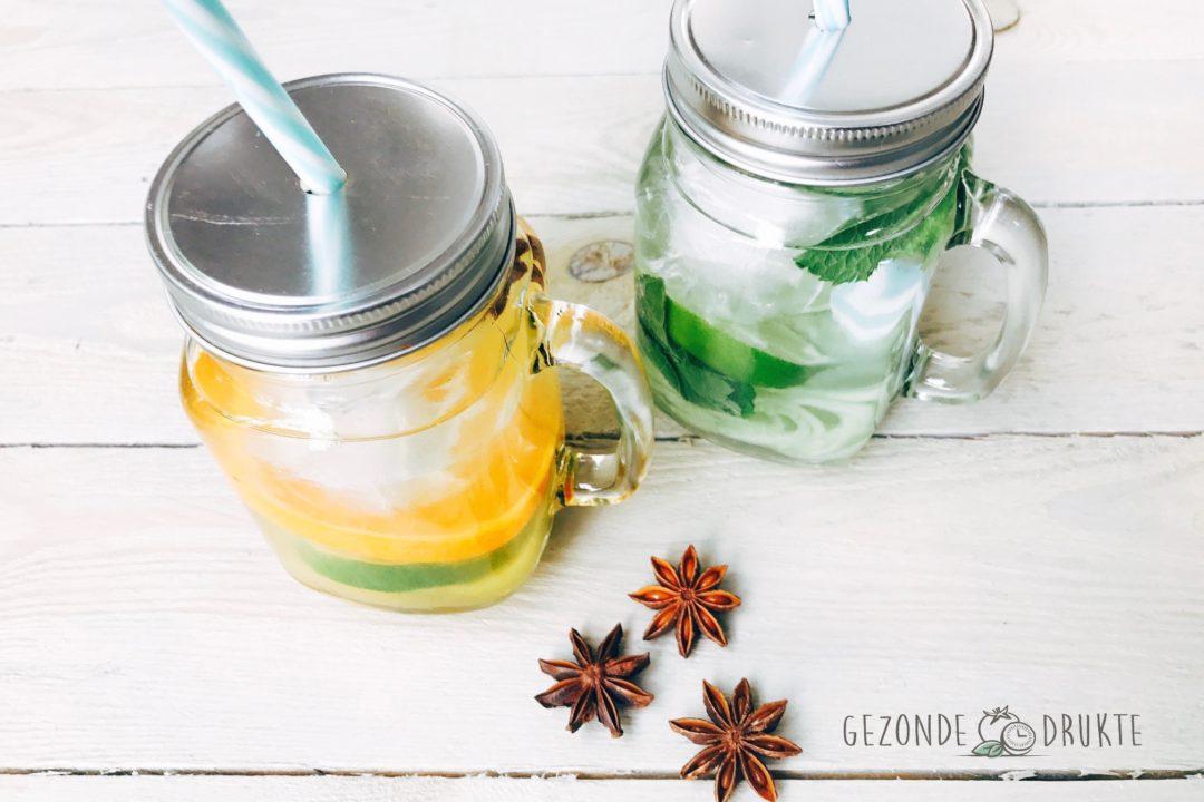 Fruit water Gezond Gezonde Drukte