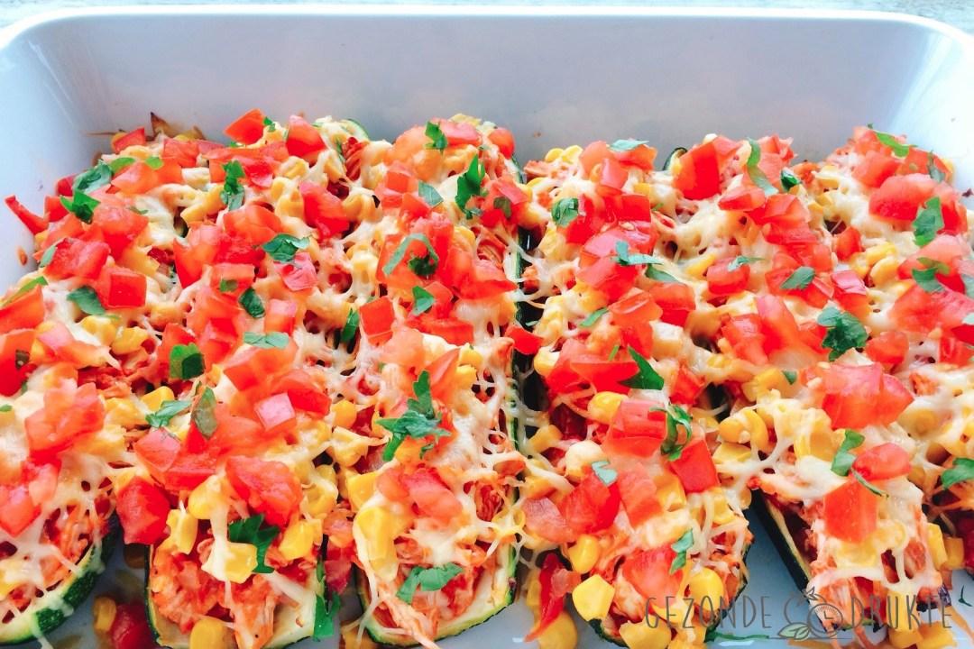 courgette enchilada bootjes met kip