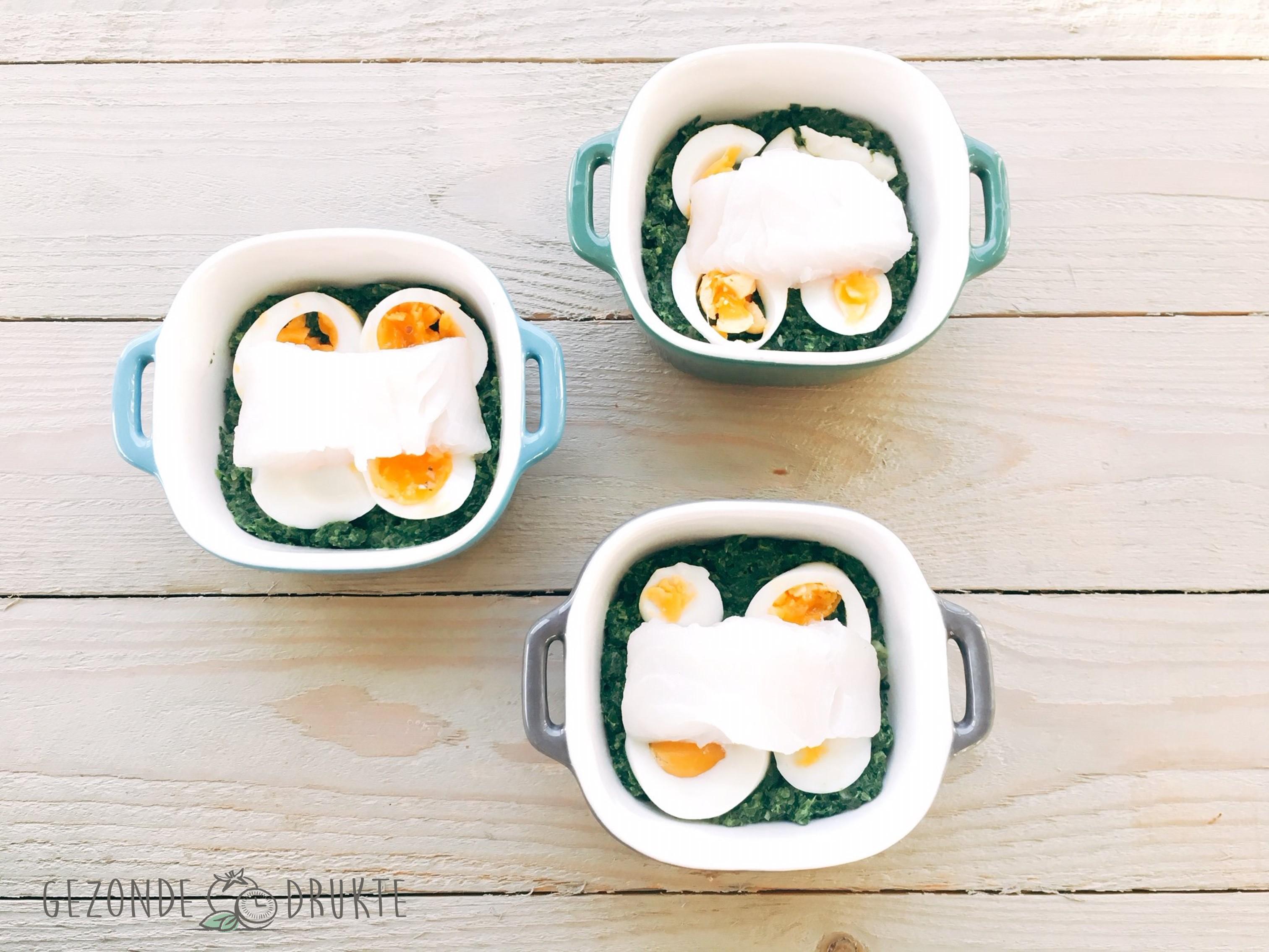 visgratin met ei en spinazie gezonde drukte gezond