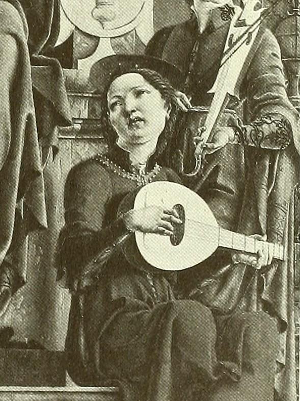 Cosimo Tura: The Virgin enthroned ca. 1480 (Ausschnitt)