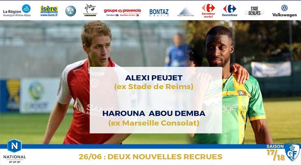 Deux nouveaux joueurs : Alexi Peuget et Harouna Abou Demba ...