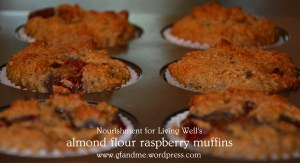 almond flour raspberry muffins. gf and me 2013.