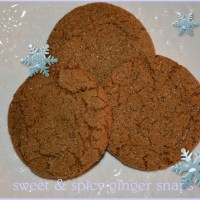 sweet and spicy ginger snaps