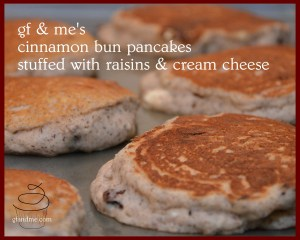 gluten free cinnamon bun pancakes