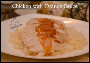 chicken with orange sauce. gfandme.com
