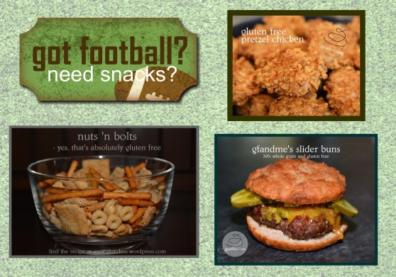 gluten free football snacks. gfandme.com