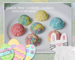 gluten and dairy free confetti cookies. gfandme.com