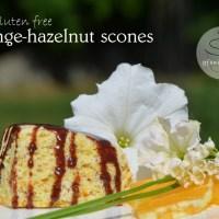 orange-hazelnut gluten free scones