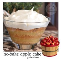 no-bake apple cake
