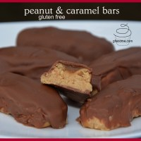 gluten free wunder bars - peanutty caramel chocolate delights!