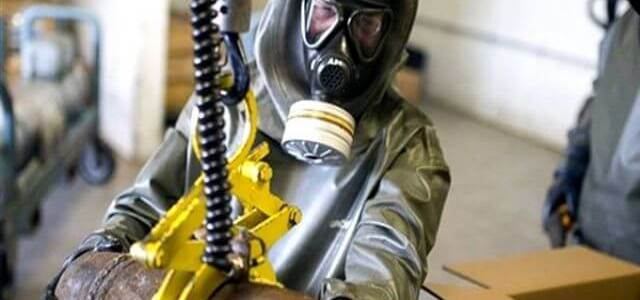 Discovered 100 tons of military grade chemicals in ISIS military bases Mosul