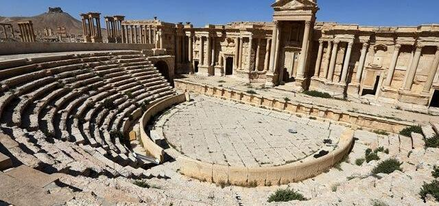 ISIS terrorists destroy part of a Roman theatre in Palmyra