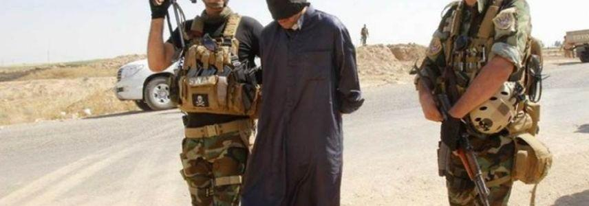 Member of the Islamic State's police arrested while infiltrating into Iraq