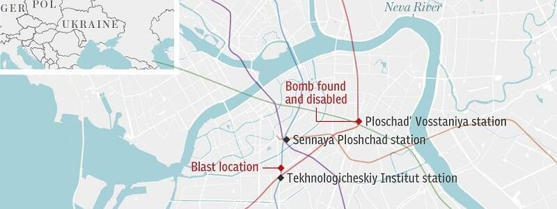 St.Petersburg Metro explosion: police suspect suicide bombing after at least 11 killed by underground blast
