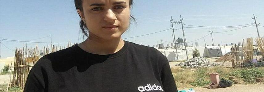 Former Yazidi sex slave is pictured back in Iraq after fleeing Germany when she came face-to-face with her ISIS captor