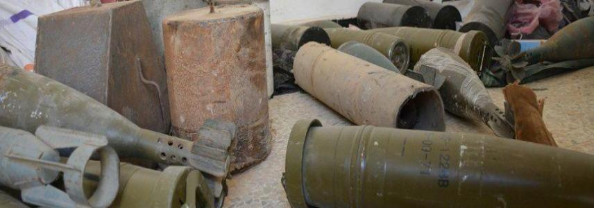 Explosives manufacturing facilities left behind by ISIS terrorists in Tabqa