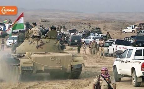ISIS terrorists attack Peshmerga forces in Tuz Khurmatu