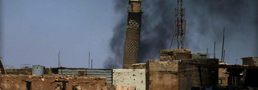Islamic State claims a historic mosque in Mosul was destroyed by a U.S. airstrike