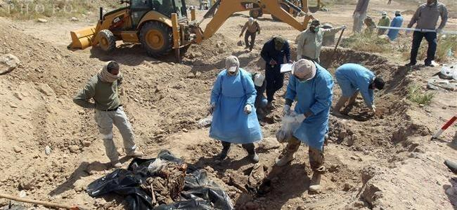 Mass grave of ISIS terrorists found in western Mosul