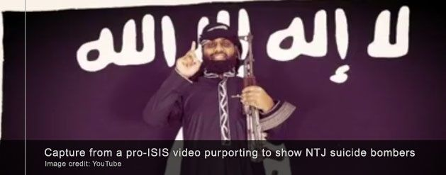 Alleged Sri Lanka suicide bombers posing with ISIS flags