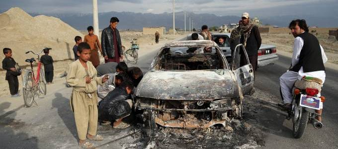 Taliban IED blast kills at least 35 civilians in the latest attack in western Afghanistan