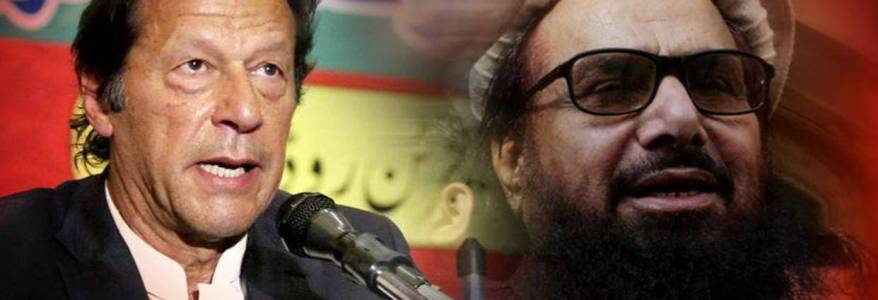 Imran Khan and terrorist Hafiz Saeed's posters surface in Pakistan