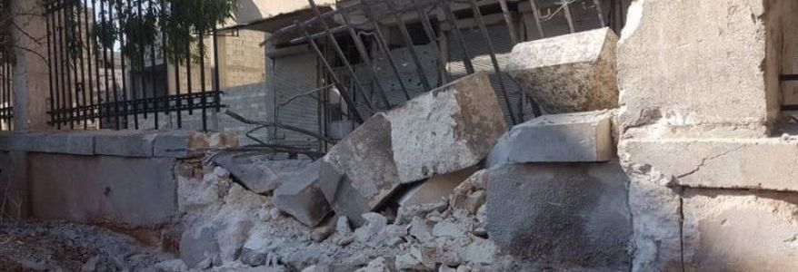 Seven people injured in Syria charity shell attack