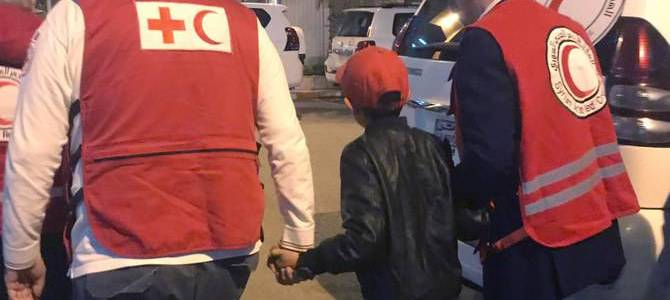 Albanian boy freed from Islamic State camp on way home to Italy