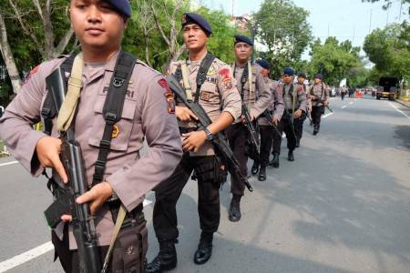 Two suspected terrorists killed and one policeman is injured in exchange of fire in North Sumatra