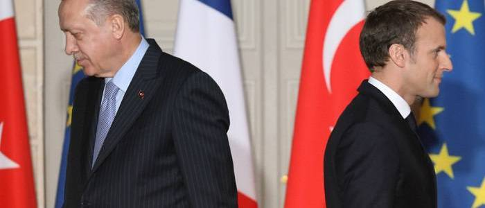 French President Macron says that Turkey works with Islamic State proxies