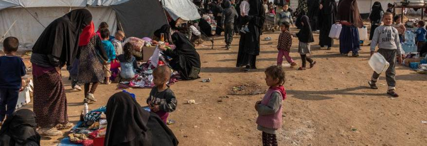 Over 10,000 children of Islamic State live in the Syrian camps