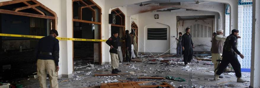 At least 15 people dead in Pakistan mosque bombing as the Islamic State claims responsibility