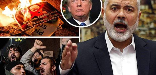 Hamas terrorists are calling for the assassination of the U.S President Trump
