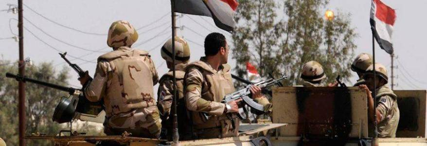 Egyptian army killed at least sixteen terrorists in northern Sinai