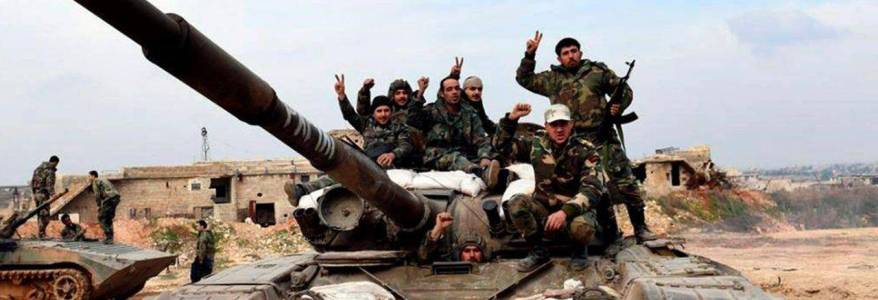 Syrian army troops shell terrorist positions in the city of Idlib