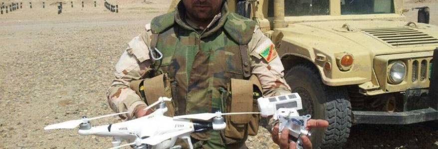 Iraqi security forces detect an Islamic State drone northeast of Baqubah