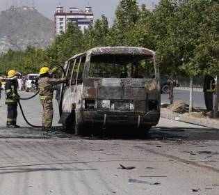 GFATF - LLL - Roadside bomb in southern Afghanistan has killed nine passengers on a bus