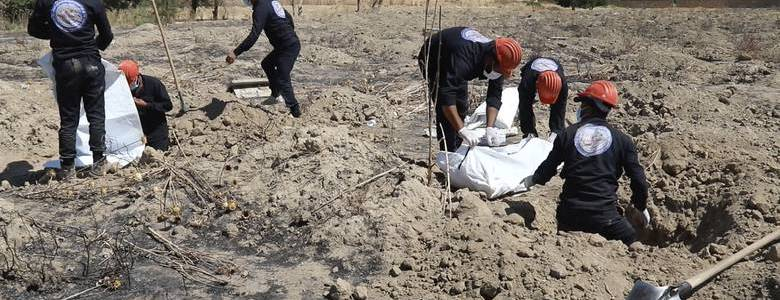 At least 40 bodies found in Islamic State mass grave in northeast Syria
