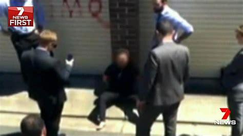 Man convicted of plotting Bankstown knife attack dragged into courtroom